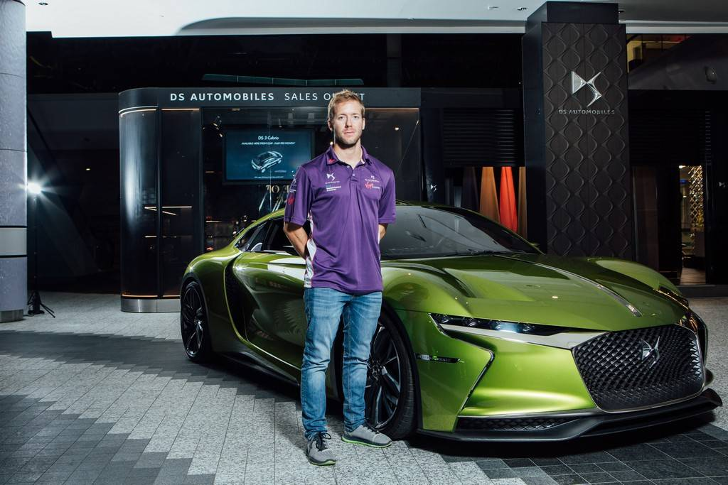 Sam Bird DS E-Tense DS Urban Store London Auto