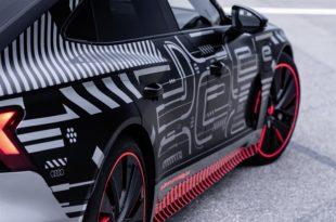 Un'immagine della berlina sportiva e-tron GT